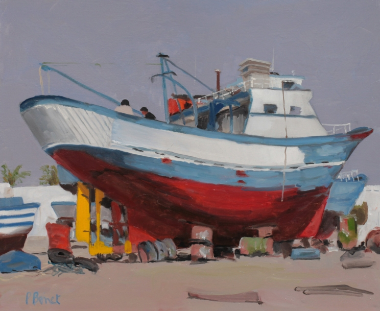 Chalutier en radoub TsP 10F (55 x 46 cm) 2013