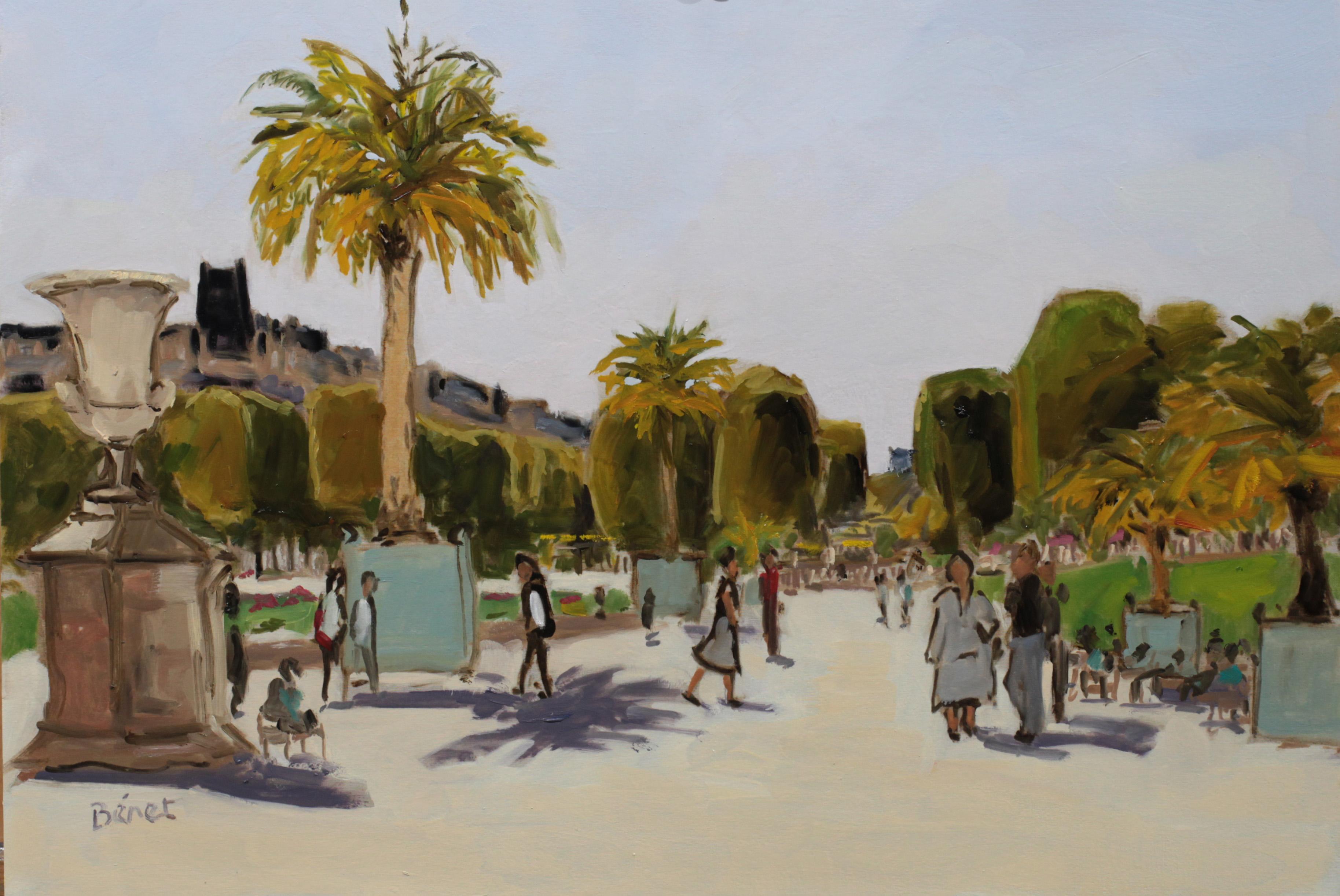 Jardin du Luxembourg, palmiers TsC 10P (55 x 38 cm) 2016