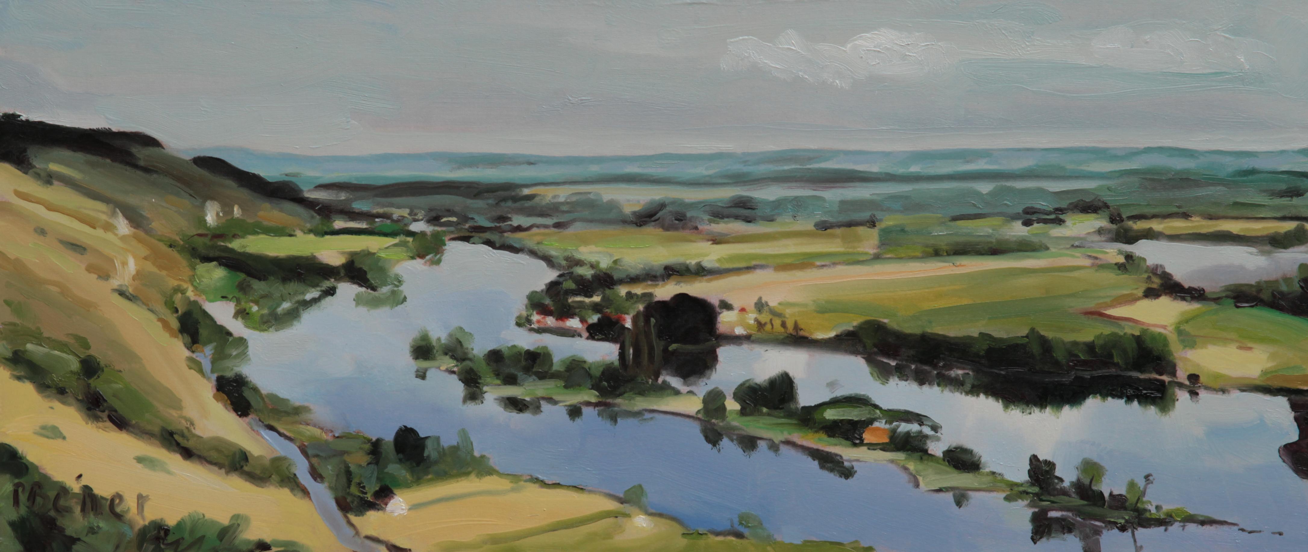 La Seine aux Andelys    TsP 15S (65 x 28 cm) 2013