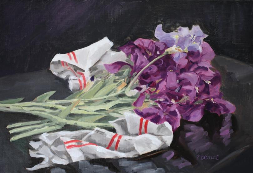 Les iris cueillis TsC 20M (73 x 50 cm) 2013
