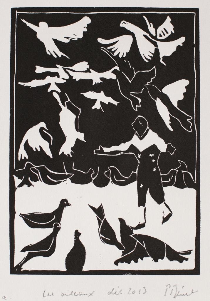 Les oiseaux Gravure L (21 x 15 cm) 2013