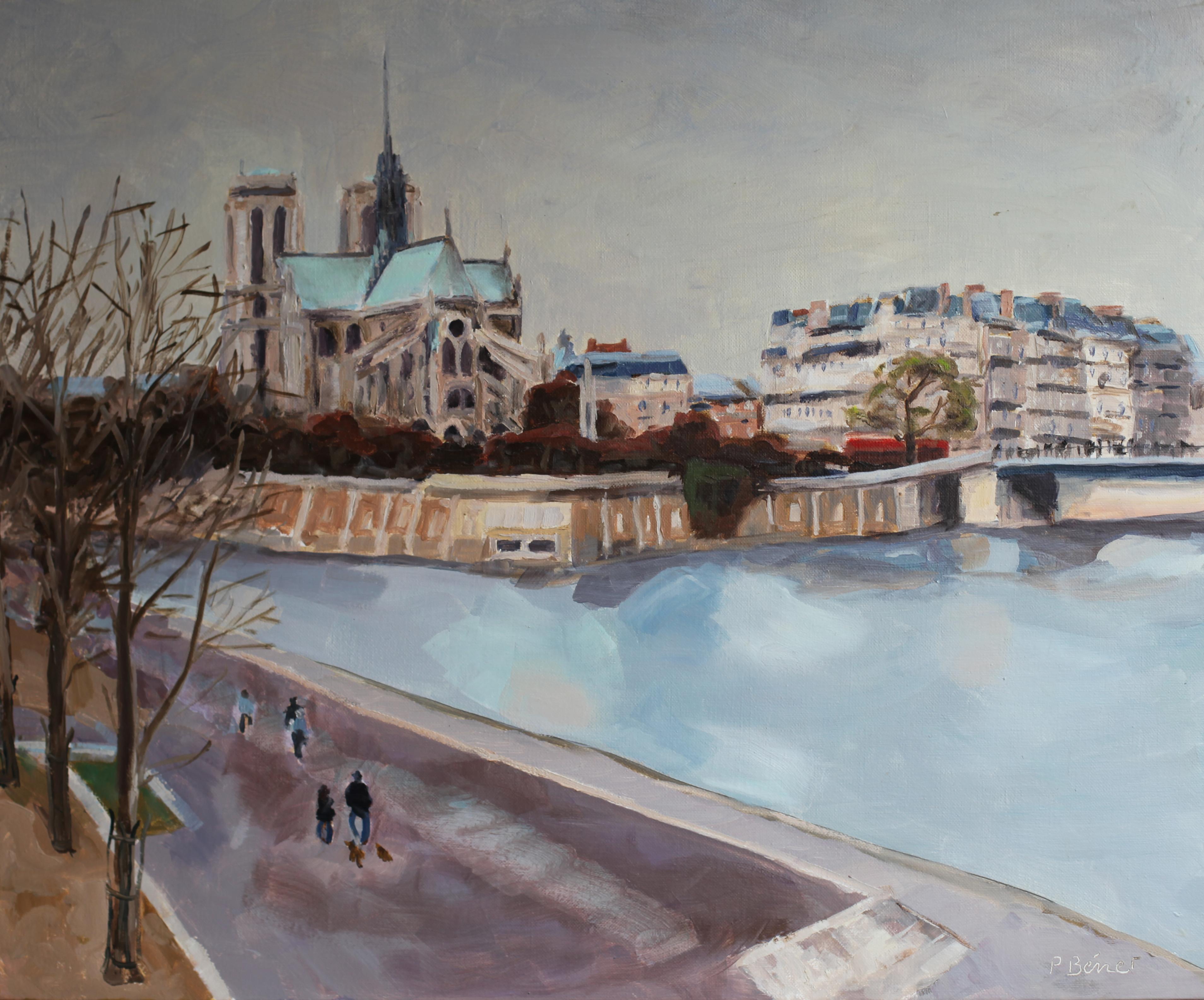 Notre Dame depuis le quai de la Tournelle TsC 20F (73 x 60 cm) 2009