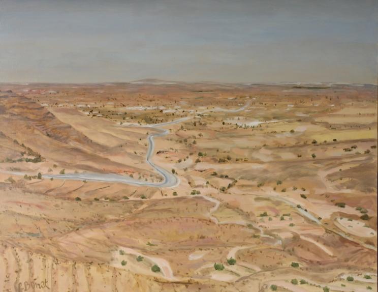 Paysage, région de Tataouine, Tunisie TsP 30F (92 x 73 cm) 2013