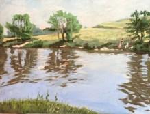 Pêcheurs aux bois de Boulogne