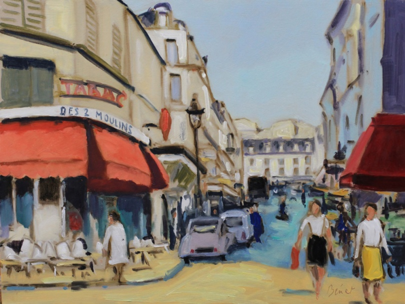Rue Lepic Paris oil painting PBenet