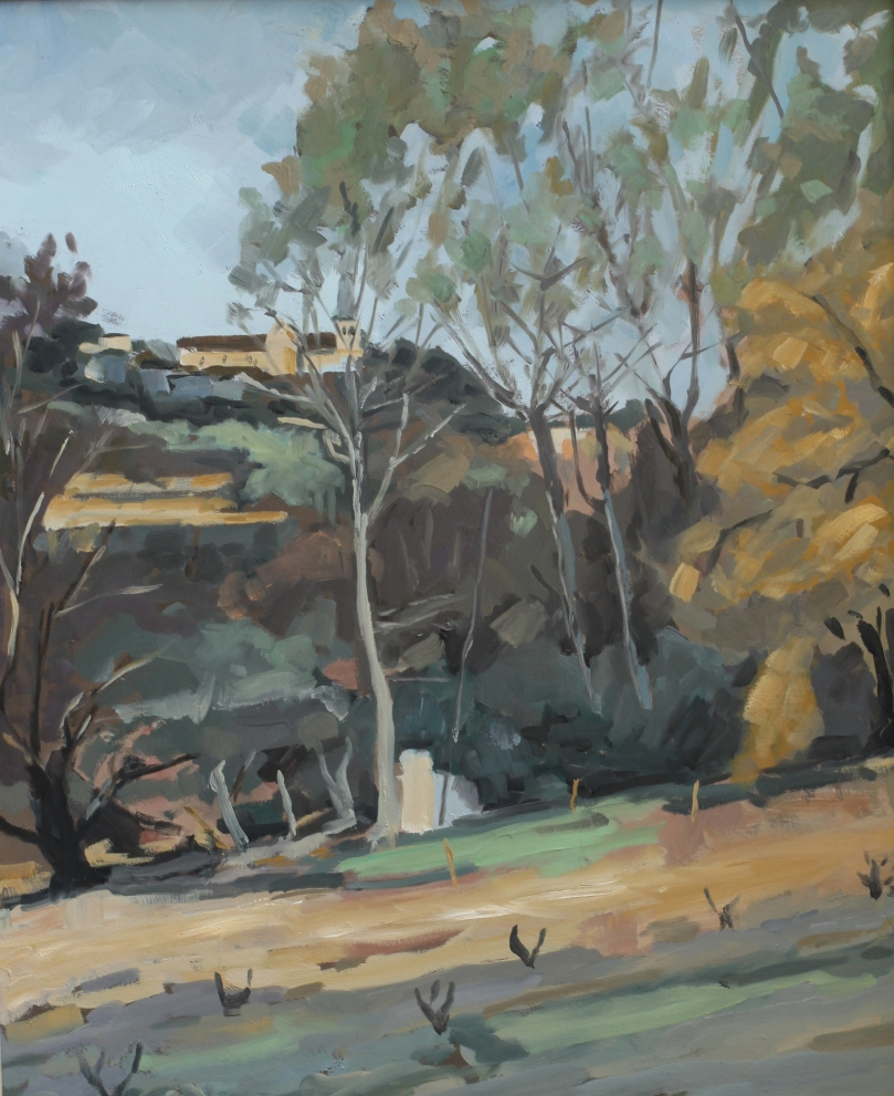 Les bords de l'Auzon, Carpentras copie de Paul Surtel 8F (46 x 38 cm) 2014