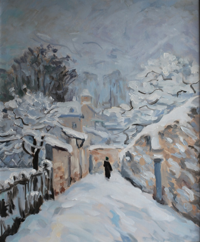 Sisley Neige a Louveciennes copie oil painting PBenet
