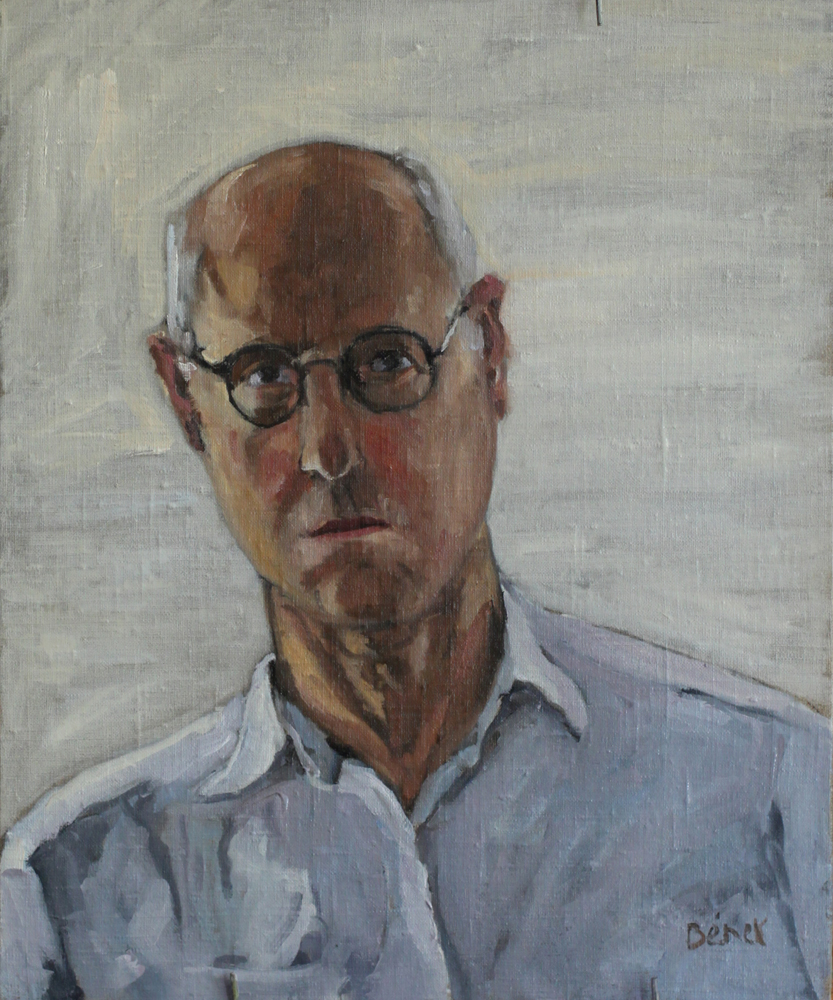 autoportrait oil painting PBenet