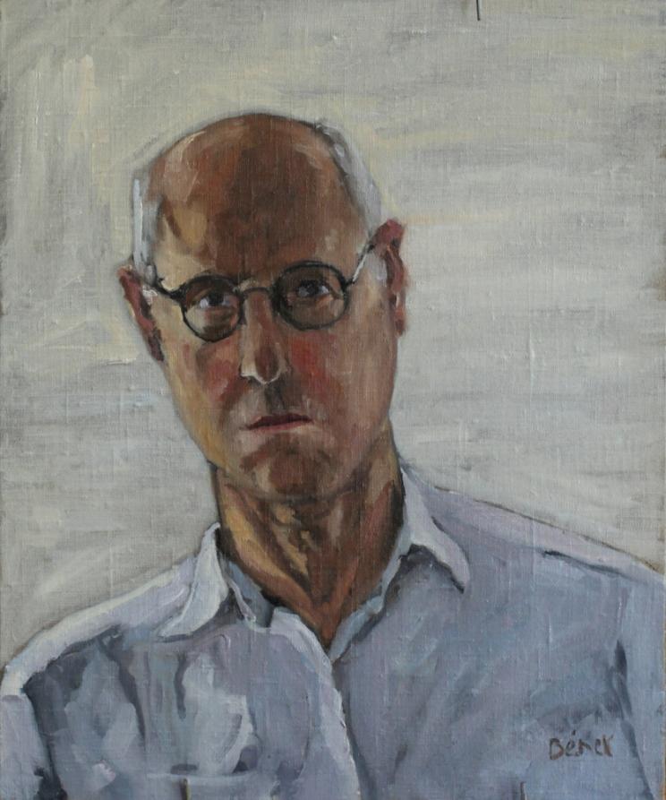autoportrait oil painting PBenet