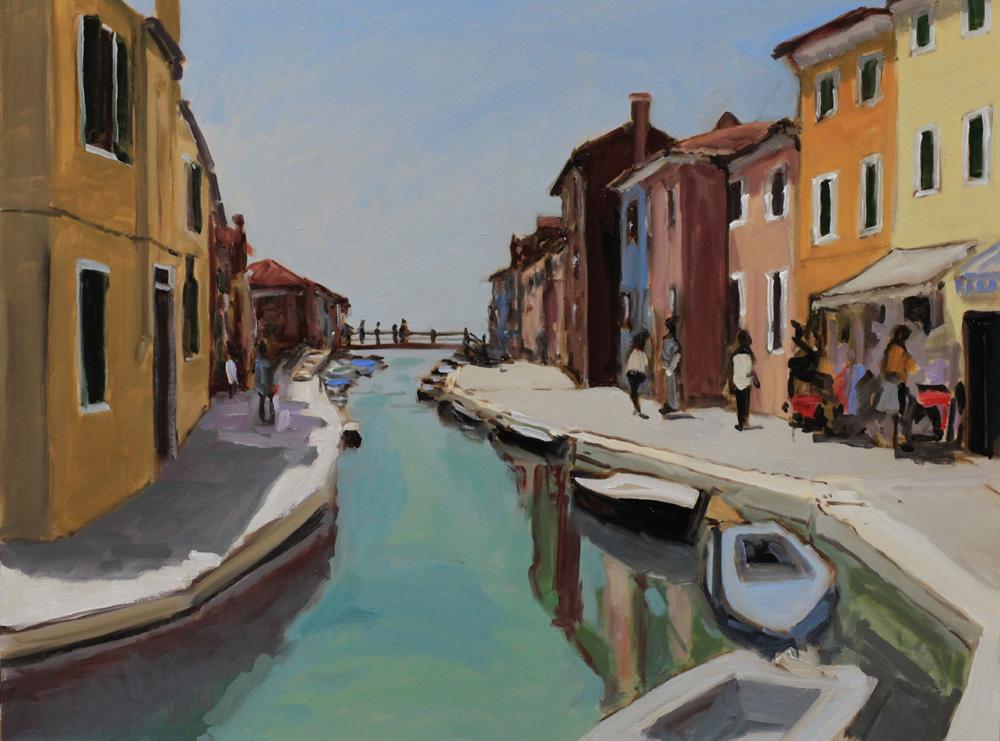 Burano - Venise - peinture à l'huile PBenet
