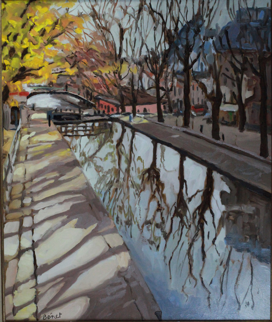 canal Saint Martin, automne oil painting PBenet