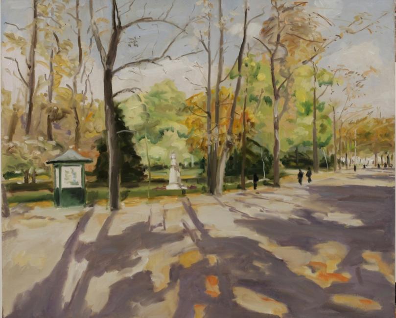 Jardin du Luxembourg automne peinture à l'huile PBenet