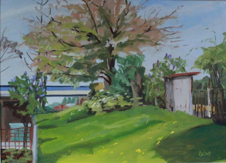 Jardins ouvriers Lille -peinture à l'huile PBenet