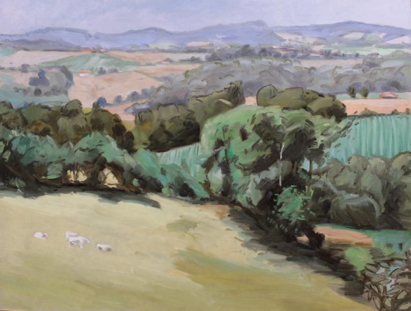 La vallée noire dans le Berry, peinture à l'huile PBenet