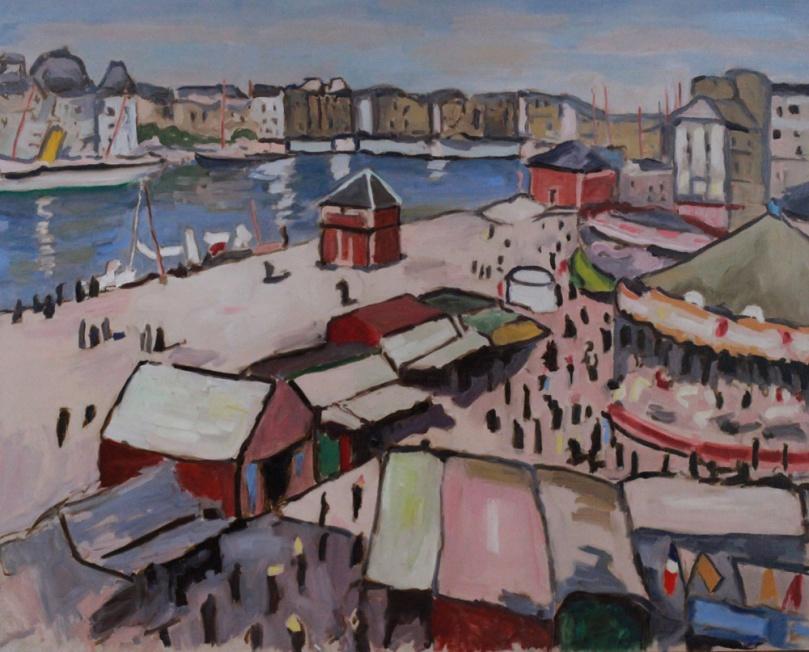 Marquet Fête au Havre, 1906 copie oil painting PBenet