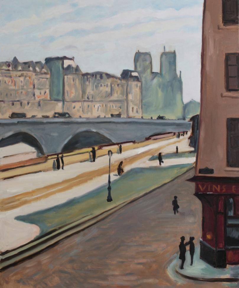 Marquet, Notre-Dame, soleil 1904 copie oil painting PBenet