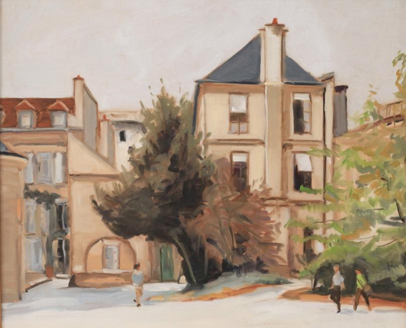 Museum histoire naturelle Paris oil painting PBenet