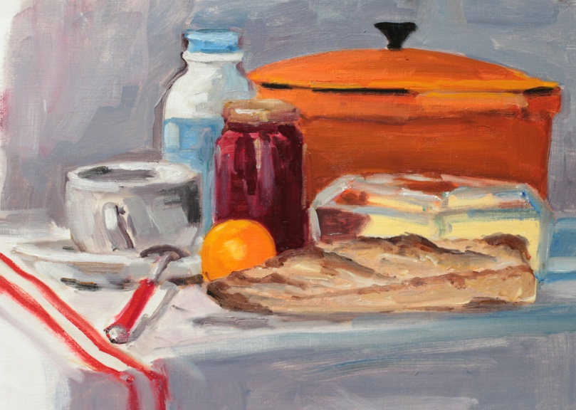 Petit-déjeuner oil painting PBenet