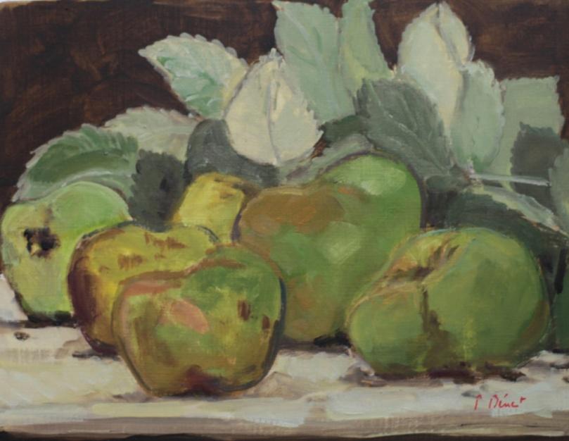les pommes vertes oil painting PBenet
