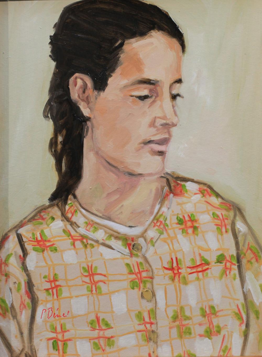 portrait de jeune fille - peinture à l'huile PBenet