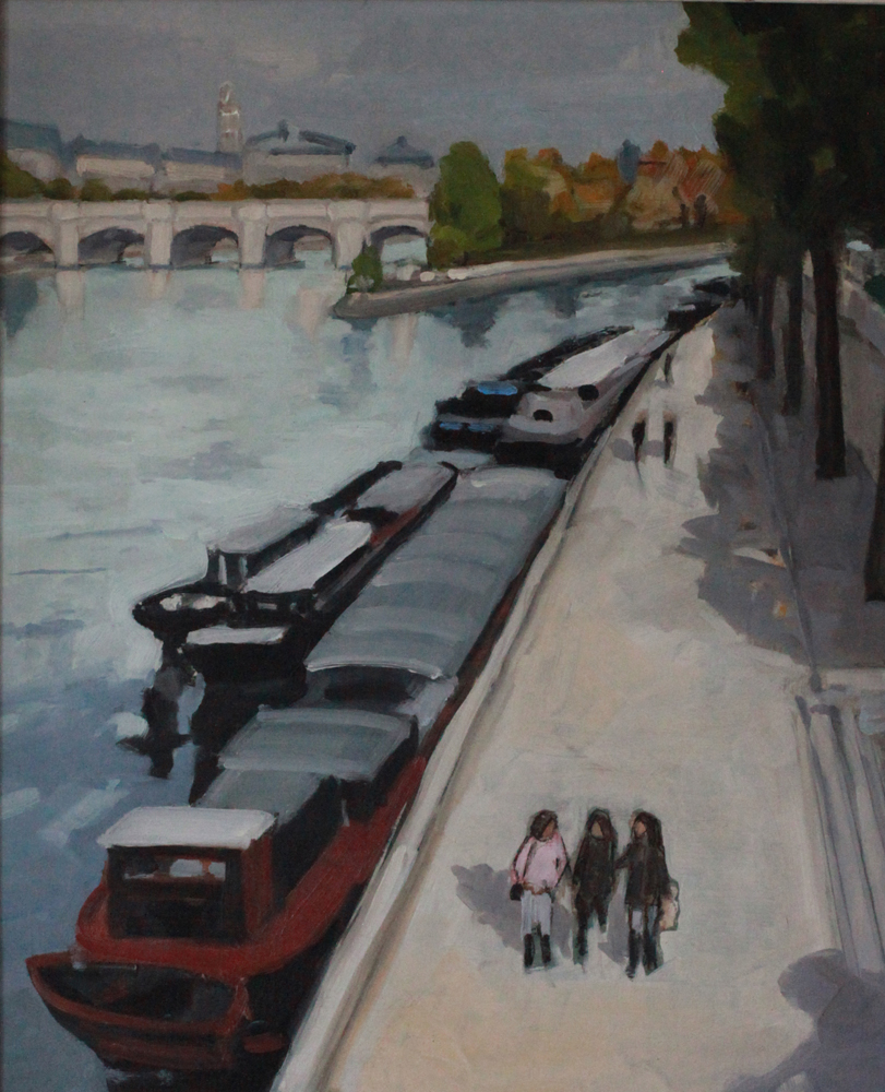 Quai Conti Paris oil painting PBenet