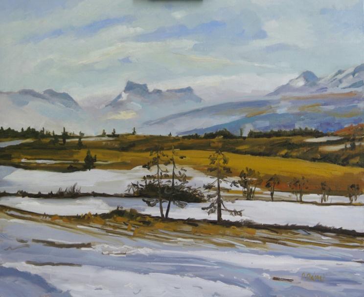 Ancelle en janvier oil painting PBenet