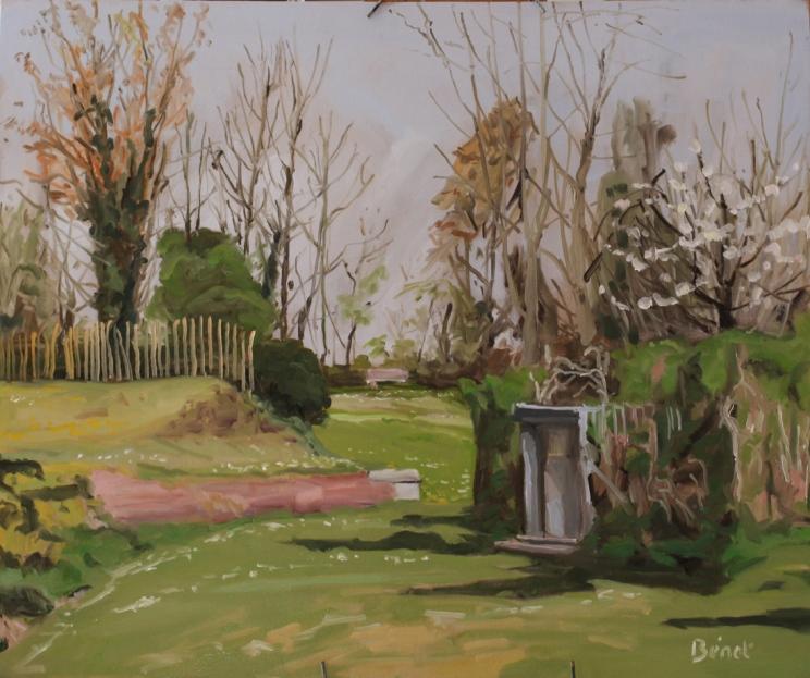 Arrivee du printemps Lille oil painting PBenet