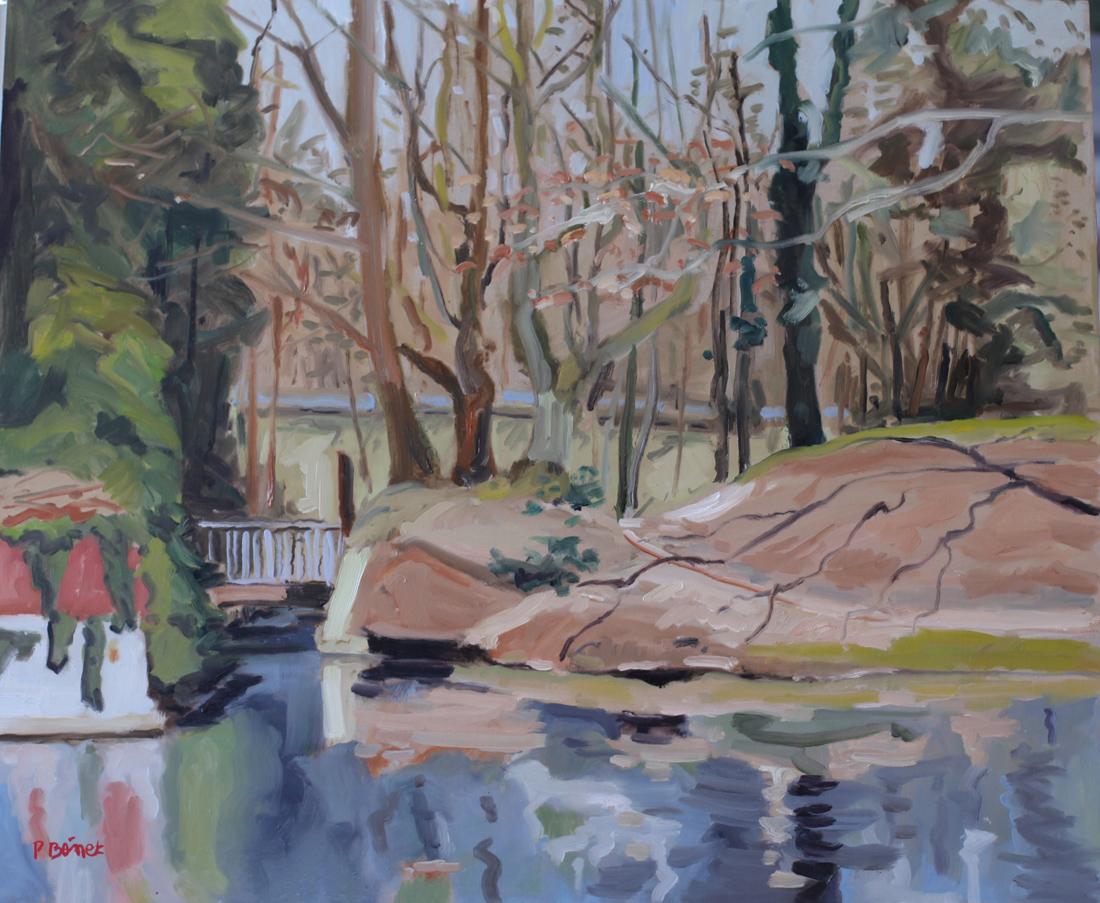 Autour de la citadelle, Lille oil painting PBenet