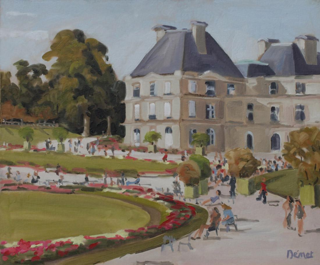 Jardin du Luxembourg oil painting PBenet