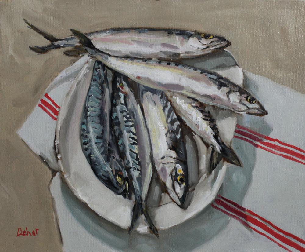 Maquereaux oil painting PBenet