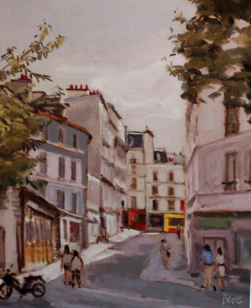 Montmartre oil painting PBenet