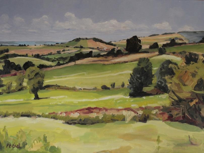 Paysage en Haute-Loire oil painting PBenet