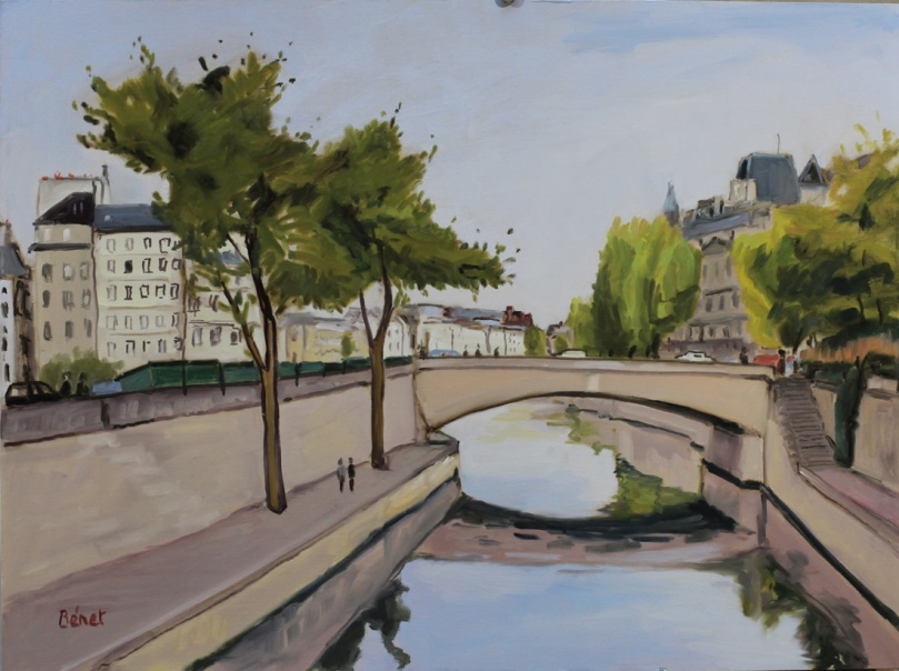 Petit-Pont Paris oil painting PBenet