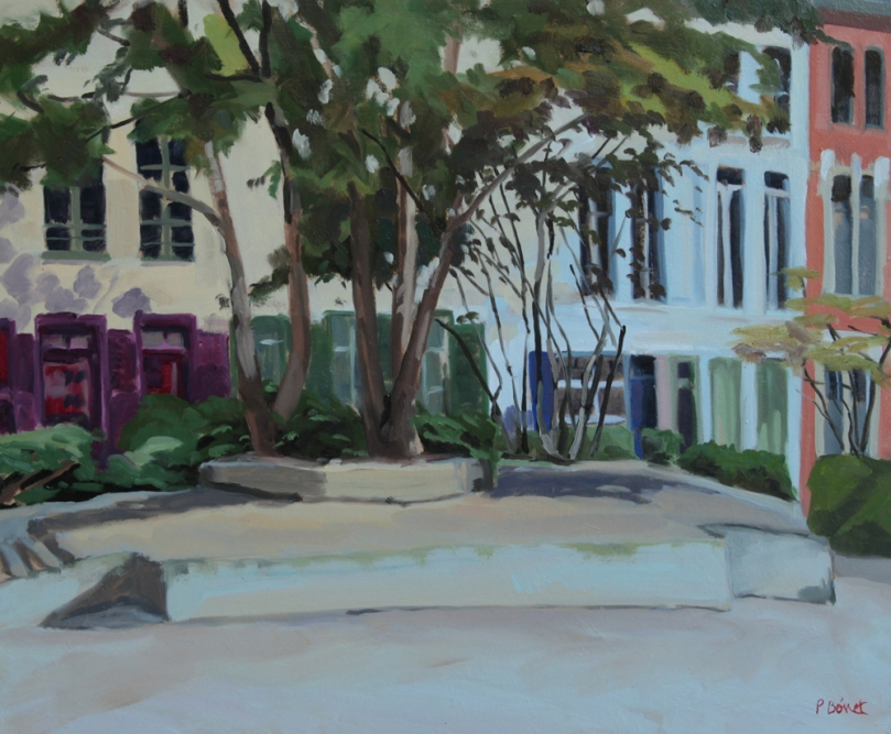 Place des archives oil painting PBenet
