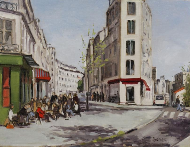 rue des Envierges oil painting PBenet