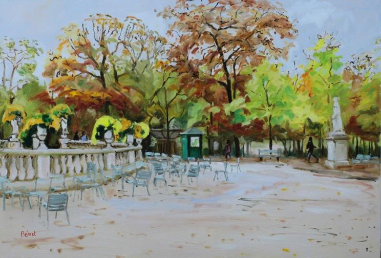 Jardin du Luxembourg en automne oil painting PBenet