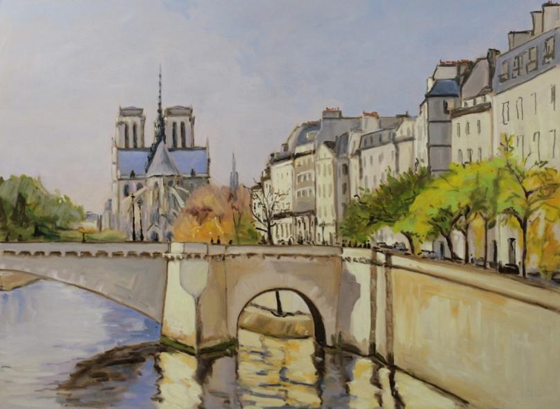 Notre-Dame et le pont de la Tournelle oil painting PBenet