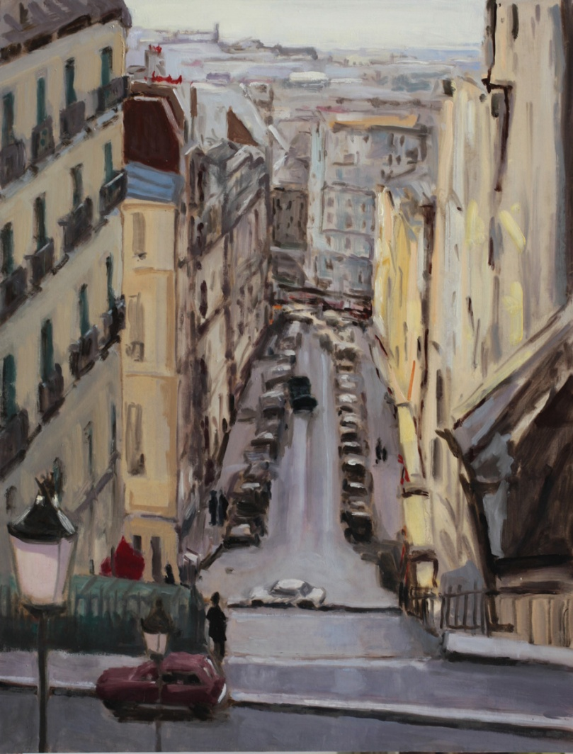 rue Chappe Montmartre oil painting PBenet