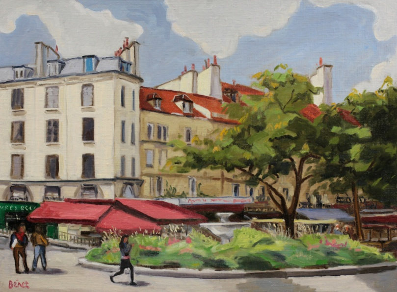 Rue Mouffetard, Paris oil painting PBenet