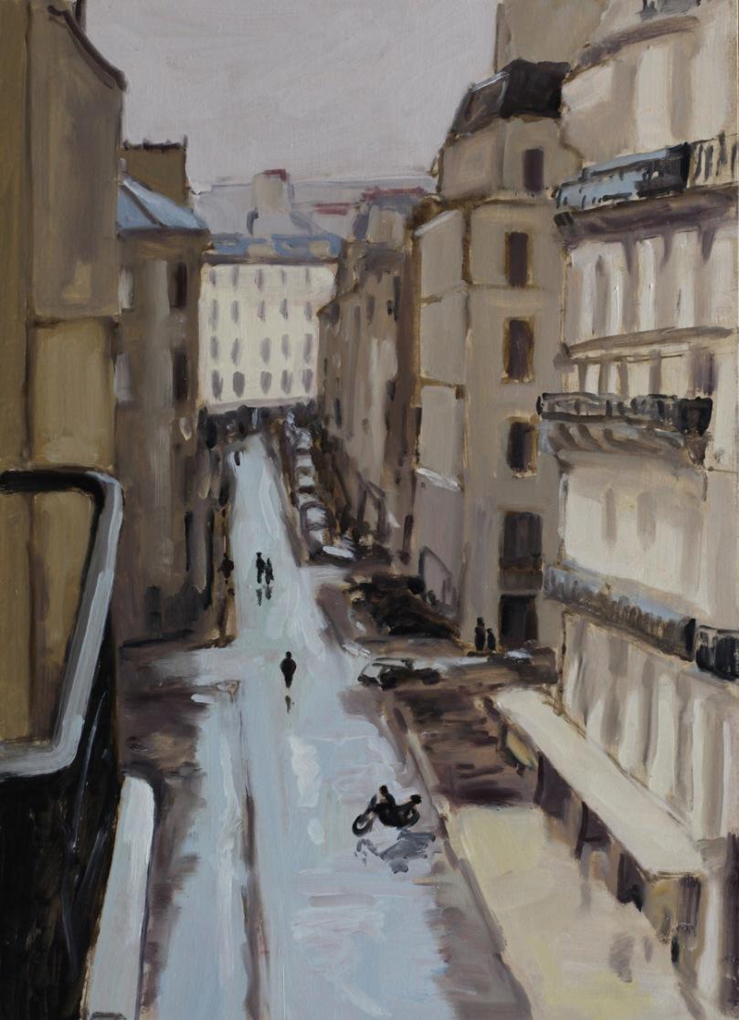Rue de Paris apres la pluie oil painting PBenet
