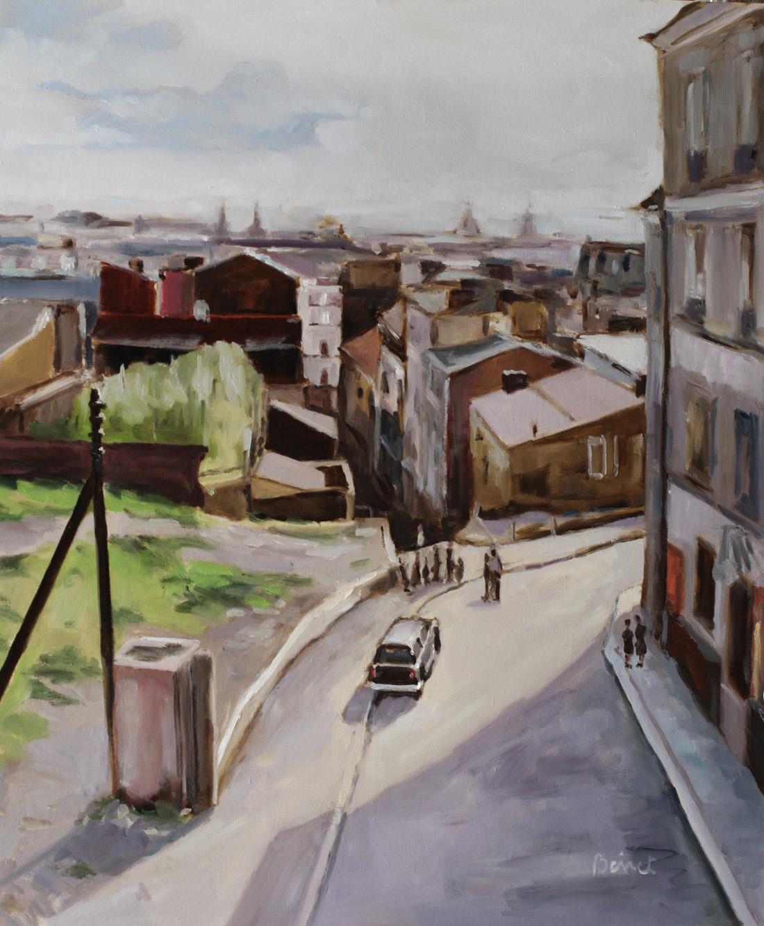 rue Vilin oil painting PBenet