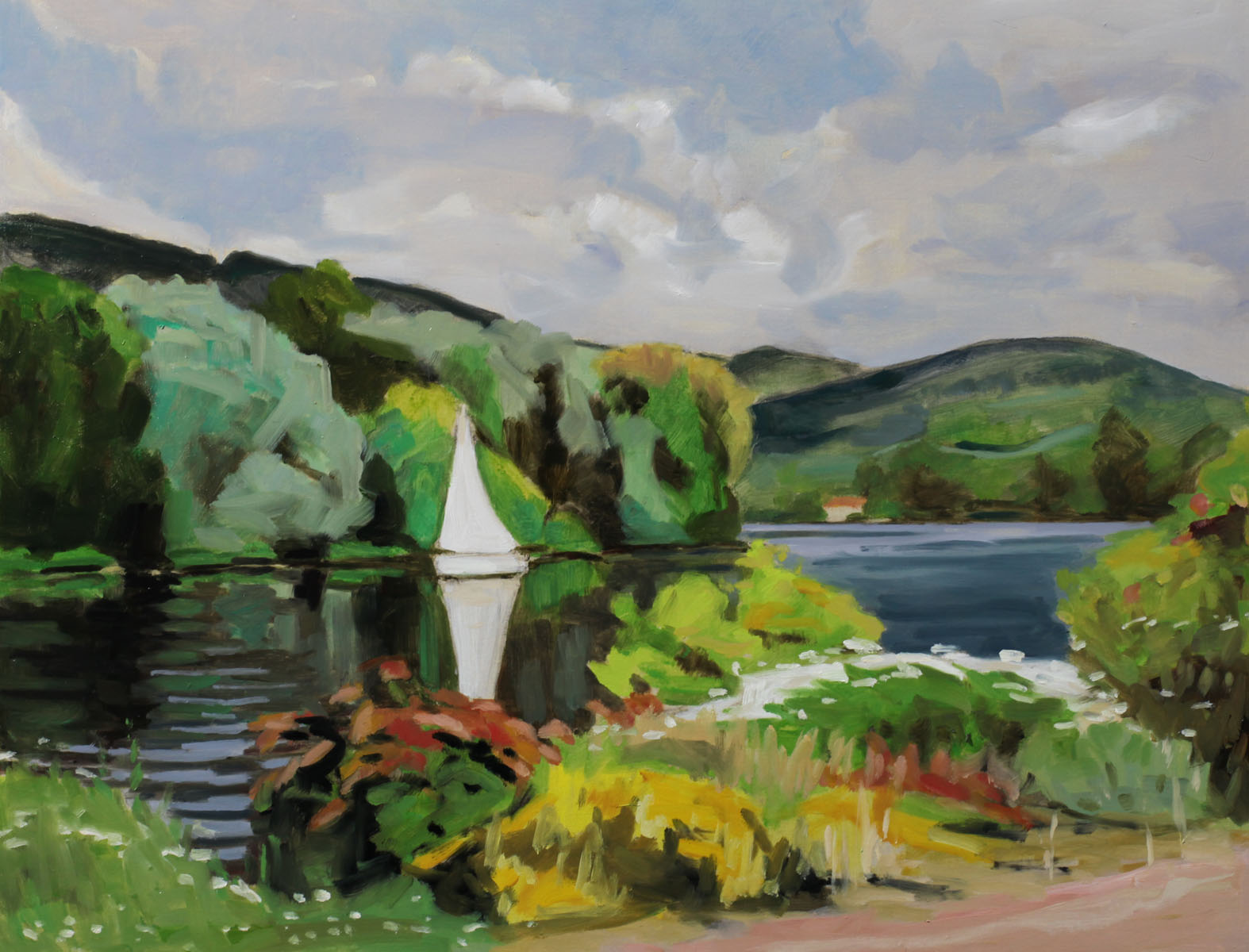 La Seine vers Vernon 15 P w