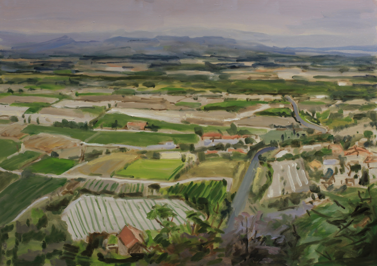 luberon oil painting pbenet