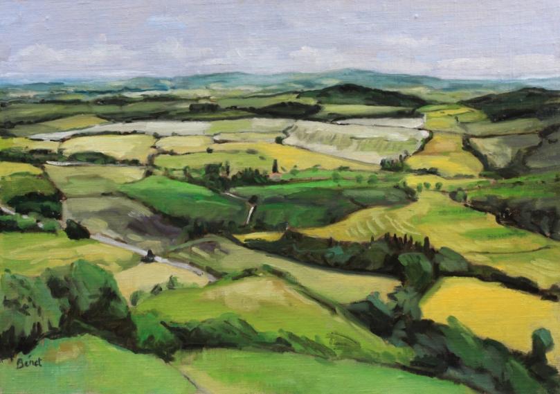 Fanjeaux, campagne alentour oil painting PBenet