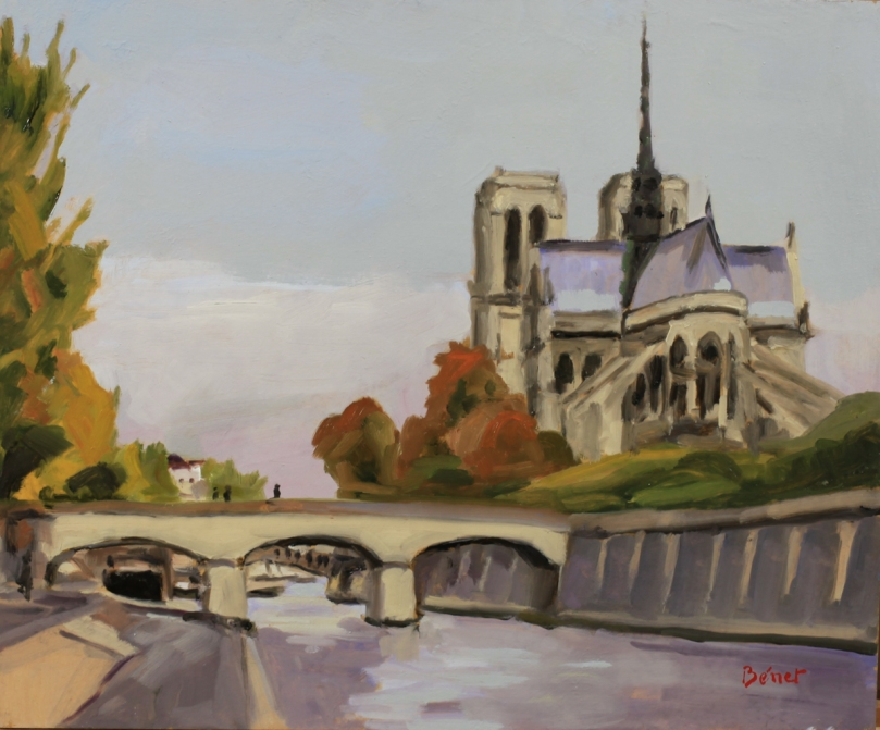 Notre-Dame oil painting PBenet